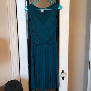 Anthropologie mock wrap dress